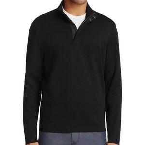HUGO BOSS Black Zip Upp Neck Sweater XL
